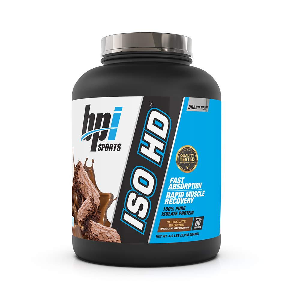 BPI Sports ISO HD 100% Protein Isolate & Hydrolysate, Chocolate Brownie, 5.4 Pound by BPI Sports (Image #1)