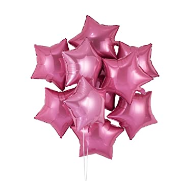 Amazon 18 inch pink star shaped foil balloon pack of 50 health 18 inch pink star shaped foil balloon pack of 50 mightylinksfo