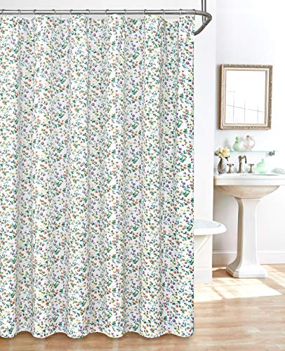 (Madison Home Small Floral Plisse Shower Curtain, Multi)