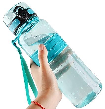 9cd081781a3f0a Amazon.com   DeeFec Best Sport Water Bottle - 22oz Large - Fast Flow ...