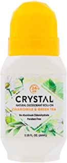 product image for Crystal Essence Mineral Deodorant, Roll-On Chamomile and Green Tea, 2.25 Fl Oz (Pack of 1)