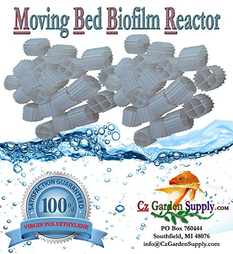K1 Filter Media PREMIUM GRADE Moving Bed Biofilm Reactor (MBBR) for Aquaponics • Aquaculture • Hydroponics • Ponds • Aquariums by Cz Garden Supply (3.5 Cubic Feet) by Cz Garden Supply