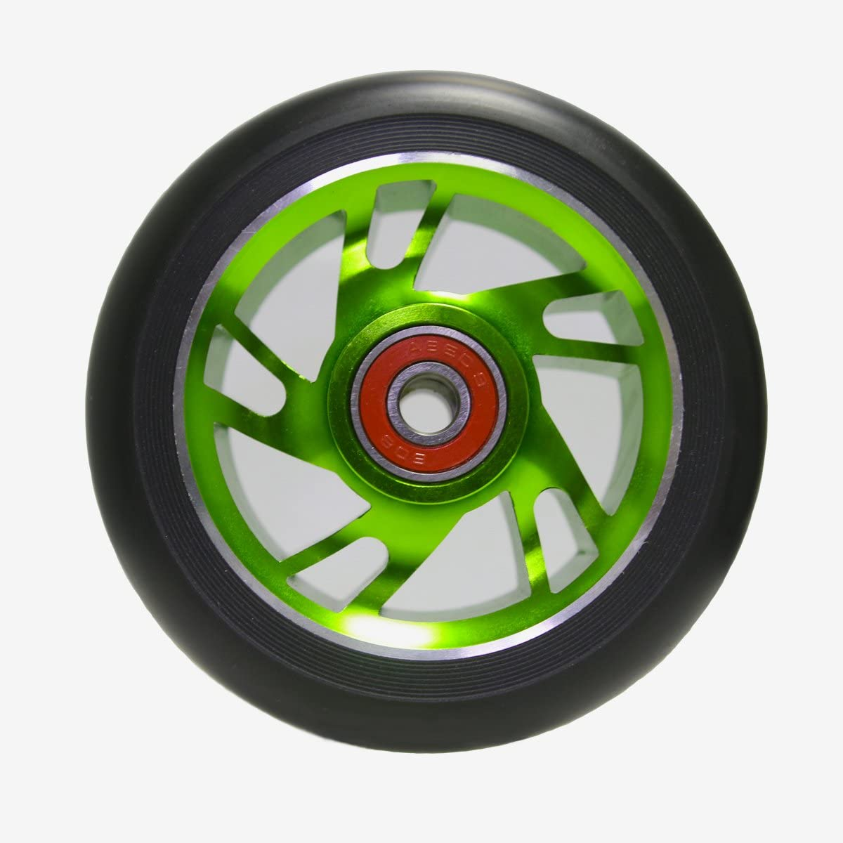 Green Z-FIRST 2Pcs 110mm Pro Stunt Scooter Wheels with ABEC 9 Bearings Fit for MGP//Razor//Lucky Envy//Vokul Pro Scooters Replacement Wheels