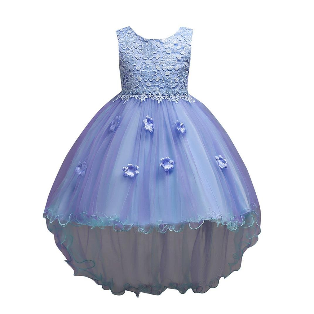 883d78da84cf Amazon.com  KONFA Teen Toddler Baby Girls Wedding Party Floral Dress ...
