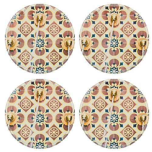 Luxlady Round Coasters Fountain morocco style vintage filter IMAGE 38265182 Customized Art Home Kitchen