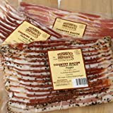 Broadbent old-fashioned country smoked bacon has been made the same way for the last 100 years. Working out of their smoke house in Kentucky, every slab is hand rubbed with dry cure ingredients, then slow smoked for an unforgettable flavor th...