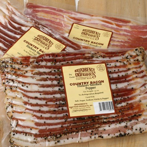 Broadbent's Kentucky Bacon - Black Pepper (14 ounce) (Peppers Cured)