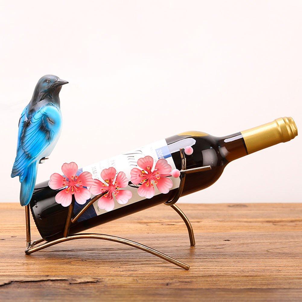 FEOOWV Elegante Soporte de Mesa para Botellas de Vino de Hierro Forjado con Diseño de Pavo Real: Amazon.es: Hogar