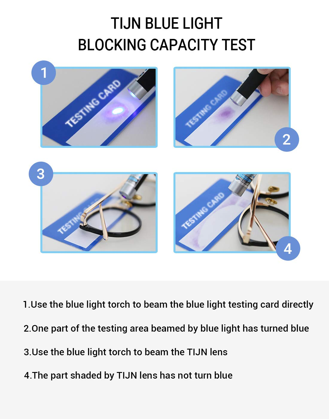 a562a4fed5 TIJN Blue Light Blocking Glasses Women Vintage Thick Round Rim Frame  Eyeglasses