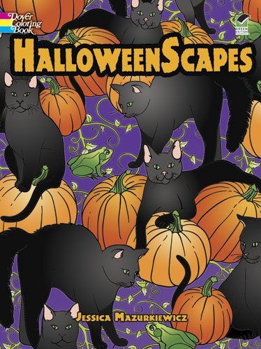 HalloweenScapes (Dover Holiday Coloring Book) -