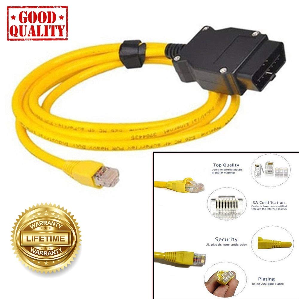 NiceCheck Enet OBD2/Cavo Ethernet connettore F seires codifica Cavo OBD2/a RJ45