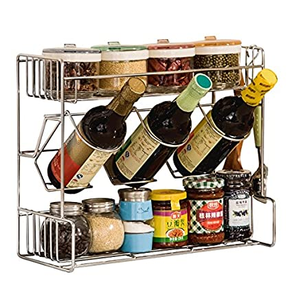 Mensole Acciaio Per Cucina Usate.Lying Cucina In Acciaio Inossidabile Condimento Scaffalature