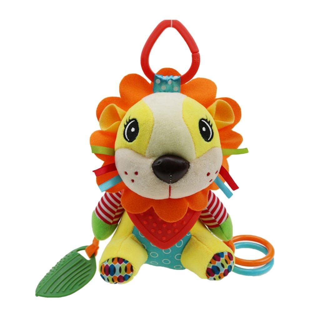 Homyl Infant Plush Hanging Crib Animal Baby Buggy Bed Rattles Pushchair Pram Toy - Lion, 25x14cm