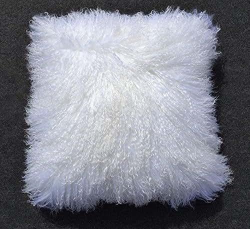 Amazon Com Tibetan Mongolian Lamb Fur Pillow Cover