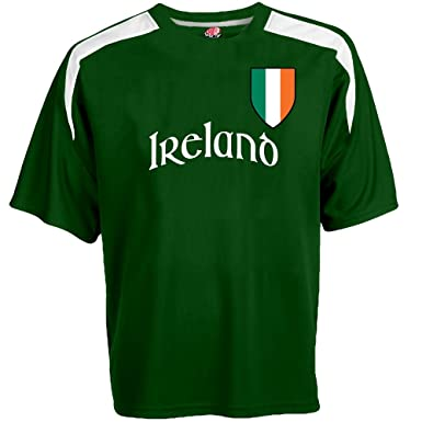 Customized Ireland Soccer Jersey Adult Small in Dark Green and White
