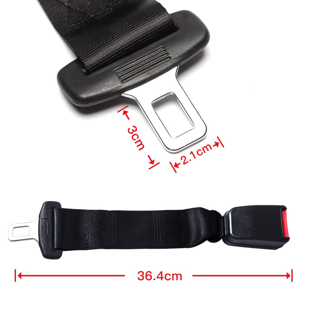 Adjustable Seat Belt Extender - E11 Safety Certified(7/8'' Metal Tongue)- Retractable Seat Belt Extension-2 Packs by Fullsexy (Image #3)