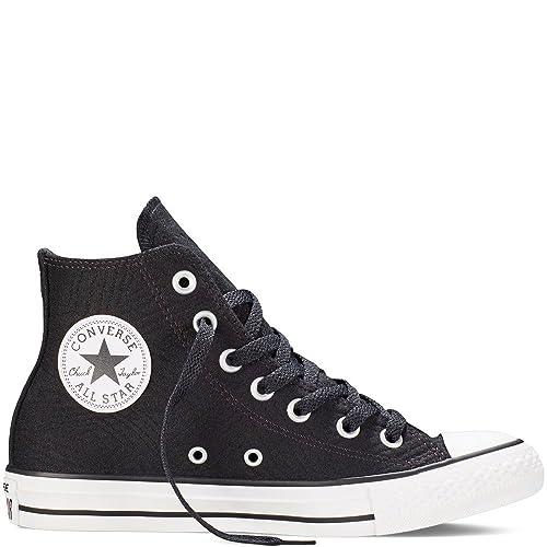 0351103d8cae Converse Chuck Taylor Hi Black White Basketball Shoe 549642F Women s ...