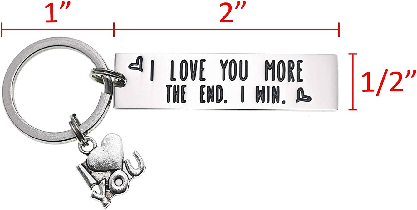 LParkin I Love You Most The End I Win Keychain for Couples Friendship Accessory Key Chain