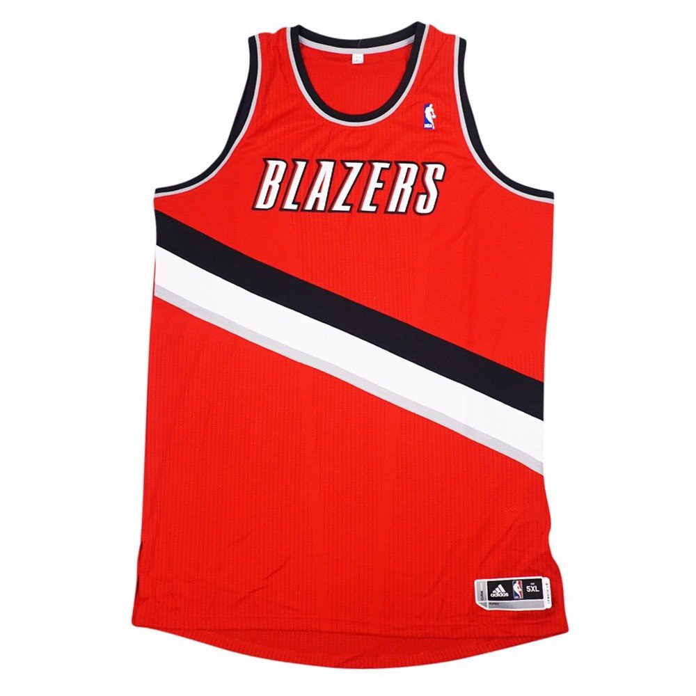 on sale 58a27 8f618 Amazon.com : adidas Portland Trail Blazers NBA Red Official ...
