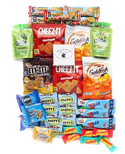 "Healthy and Delicious Snack Package ""Young at Heart"" Box of 30 Items- Includes GoGo Sqeeze, Clifkidz, Oreo, Goldfish, Quaker Bars"