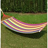 Bazaar 200*80cm Canvas Single Hammock Tourism Camping Leisure Fabric