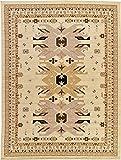 Cheap Classic Traditional Geometric Persian Design Area rugs Ivory 9′ 10 x 13′ 1 Qashqai Heriz rug