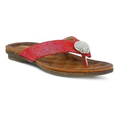 Women's Patrizia, Edita Thong Sandal RED 3.6 M