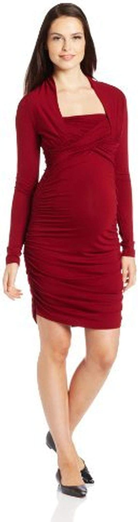 Ripe Maternity Women S Maternity Harper Nursing Dress Brick X Large At Amazon Women S Clothing Store