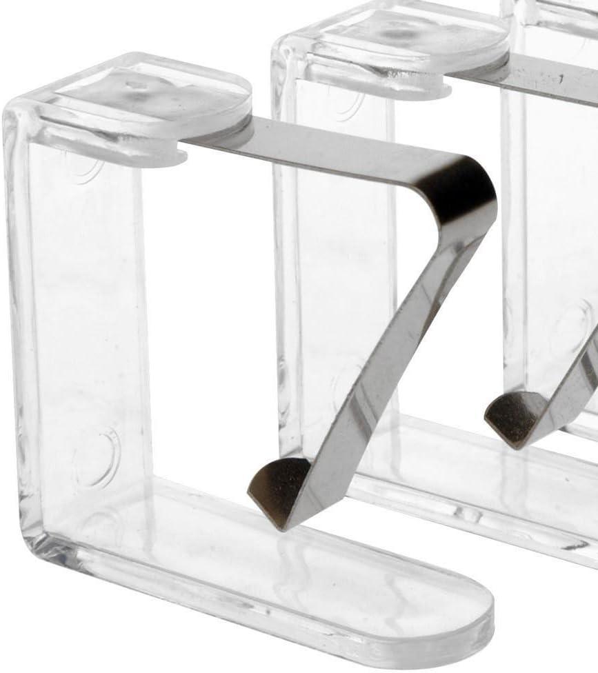 tovaglia KLAMMER ToCi Fermatovaglia in Plastica Trasparente Con Staffa metallica per esterno e interno 12 St/ück