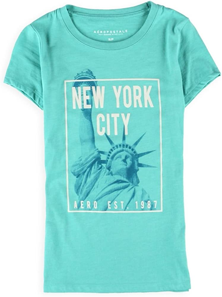 AEROPOSTALE Womens NYC Cityscape Graphic T-Shirt