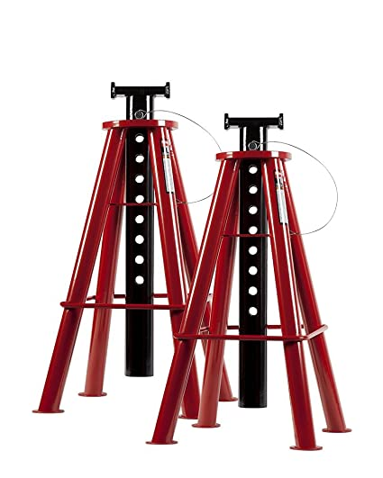 Pipe Jack Stands >> Sunex 1410 10 Ton High Height Pin Type Jack Stands Pair Power