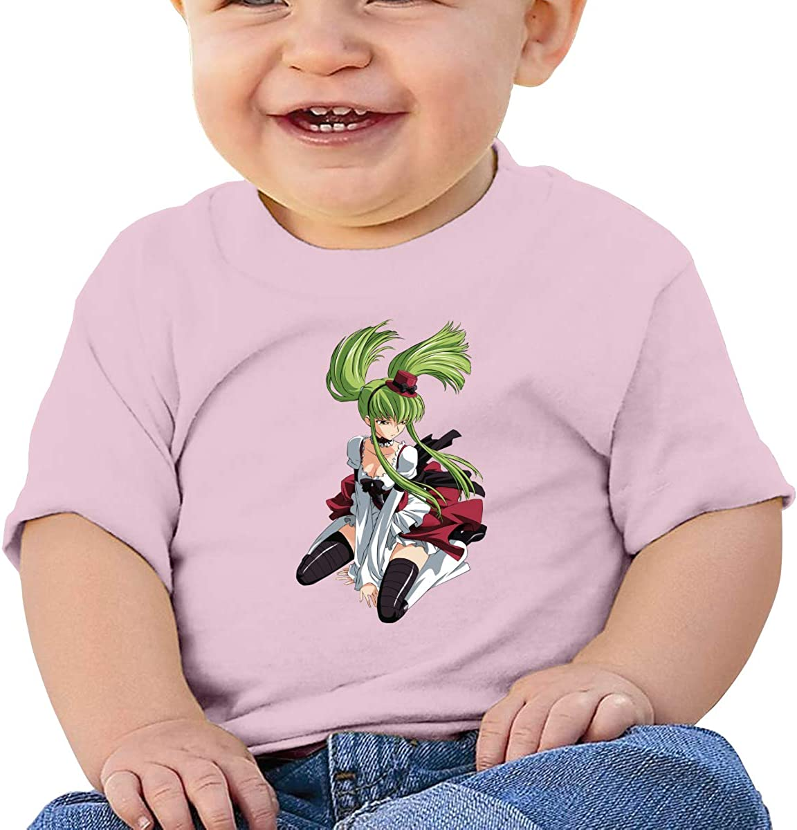 Honshang C C Code Geass Short-Sleeve Black Tshirts for Baby T-Shirt