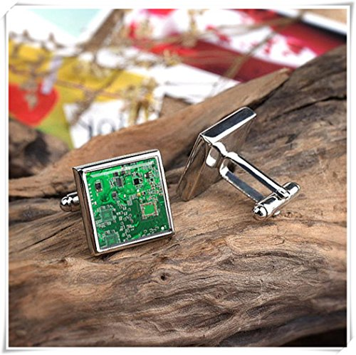 Integrated Link - Cufflinks Integrated Circuits Motherboard CPU IT Science Cufflinks Electronic Circuit