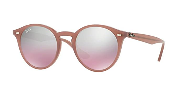 572fccd773 Ray-Ban Round Highstreet Opal Pink Mirror Sunglasses RB 2180 62297E 49mm +  Gift!  Amazon.co.uk  Clothing