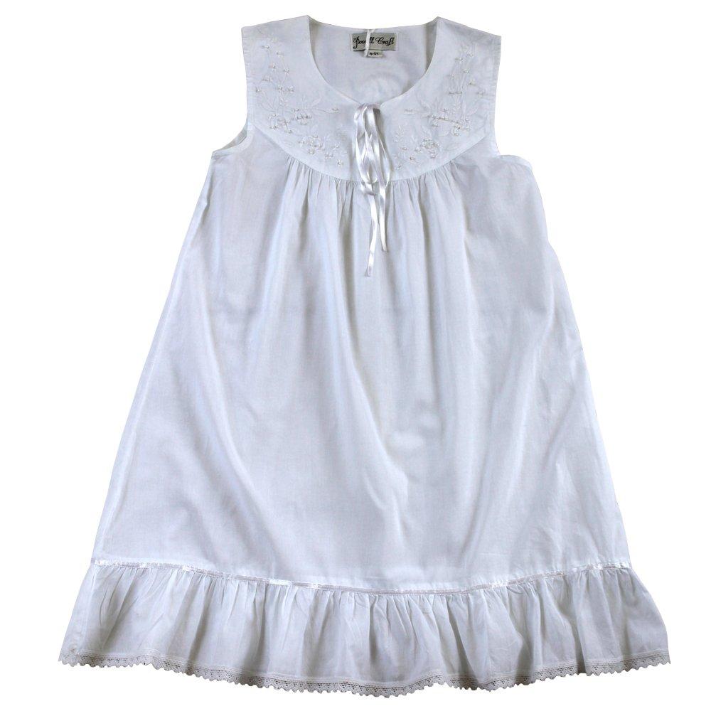 Girls Sleeveless Cotton Nightdress Age 8-9 - Georgia - Powell Craft