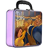 Beauty & the Beast Square Tin Tote Lunch Box Metal Storage Lunch Box Kids