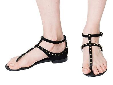 934c6878c4fb Image Unavailable. Image not available for. Color  Balenciaga Women s  422778Waur01000 Black Suede Sandals