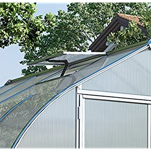 Palram Bella Hobby Greenhouse, 8' x 12', Silver with Twin Wall Glazing