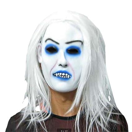 Látex máscaras asustadizas mascarilla fantasma traje de ...