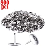 800 Pack Steel Thumb Tacks,Sliver Thumb Tack Flat Head Push Pin, Push Pins for Cork Board, Push Pins for Wall, Office…