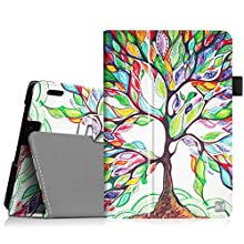 """Fintie Folio Case for Fire HDX 7 - Slim Fit Leather Standing Protective Cover with Auto Sleep/Wake (will only fit Kindle Fire HDX 7"""" 2013), Love Tree"""