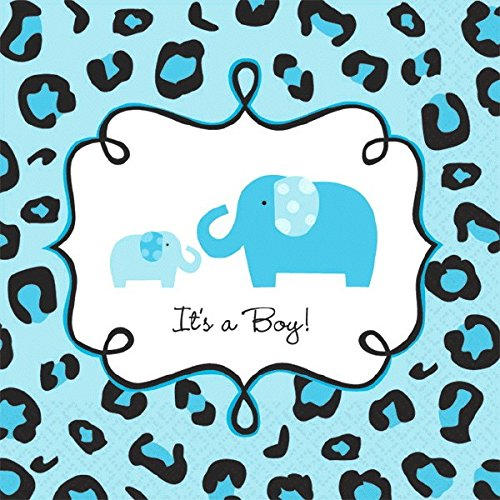 Amscan Sweet Safari Boy Baby Shower Party Beverage Napkins ,