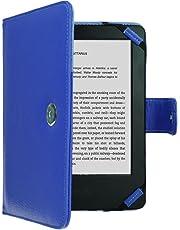 TECHGEAR Blu Custodia Folio in Pelle Sintetica con Chiusura Magnetica Realizzata per Amazon Kindle eReader e Kindle Paperwhite con Schermo da 6 Pollici [Stile Libro] Pellicola per Lo Schermo Inclusa