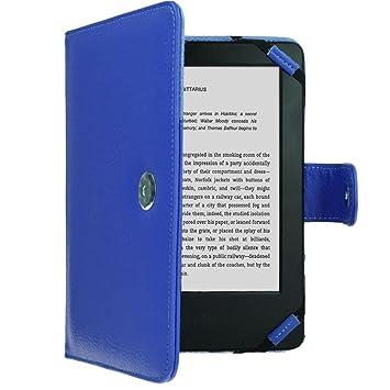 TECHGEAR Azul Kindle Funda de Cuero PU con Cierre magnético ...