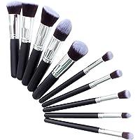 BestMall Kit De Pinceau Maquillage Professionnel 10PCS Noir Eyebrow Shadow Blush Fond De Teint Anti-Cerne