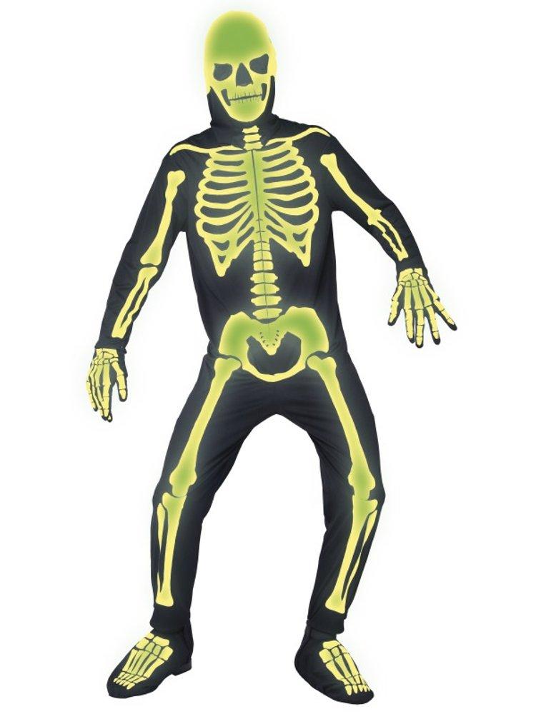 Kostüm Herren Karneval Party Halloween Skelett Neon Smiffys    09021., mehrfarbig L baf407