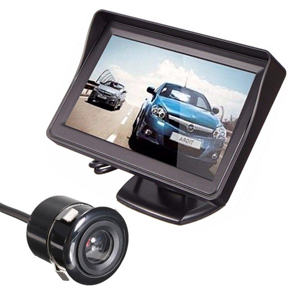 Rear R/ückfahrkamera Kit Set Alftek LCD Auto R/ückansicht Backup Monitor