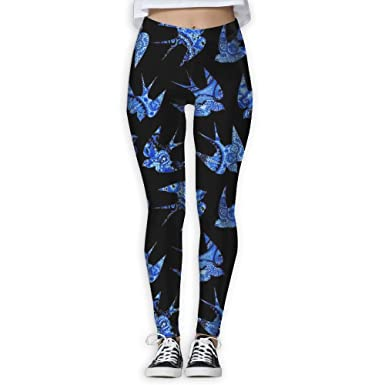 7822a1e25a64d Vgyjm Concise Swallow Bird Yoga Pants Stylish Sports Workout Compression Pants  Leggings for Womens