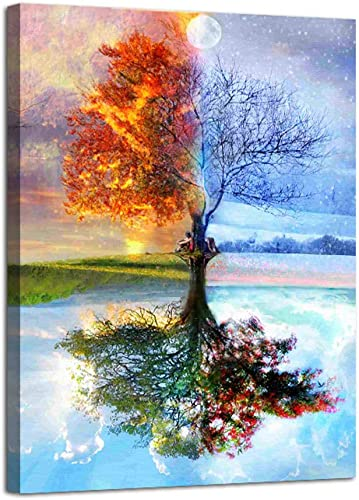 AGCary Four Season Tree of Life Poster