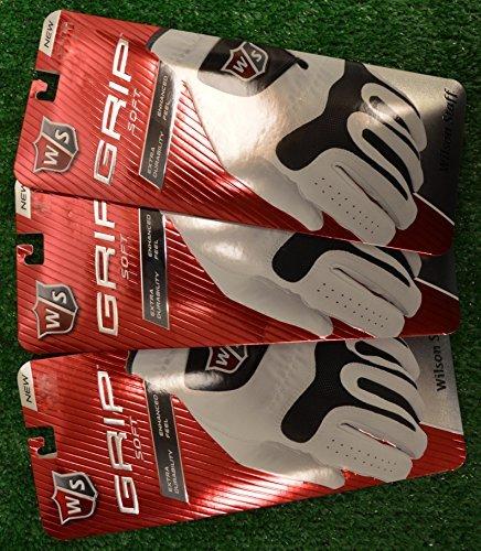 3 Wilson Staff Grip Soft Golf Gloves - Left Hand - Large